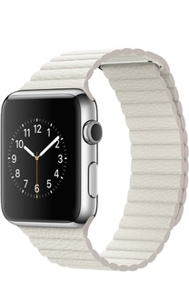Apple Watch 42mm Silver Stainless Steel Case with Leather Loop Apple