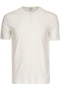 Хлопковая футболка джерси с застежкой на пуговицах Armani Collezioni