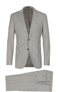 Шерстяной приталенный костюм Armani Collezioni