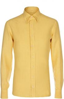 Льняная рубашка с воротником таб Andrea Campagna