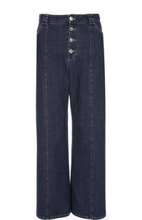 Широкие джинсы с завышенной талией и контрастной отделкой Sonia Rykiel