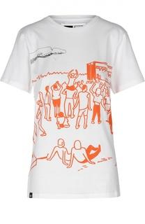 Хлопковая футболка с двусторонним принтом Dedicated