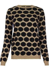 Пуловер в горошек с контрастной полупрозрачной спинкой Marni