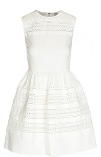 Приталенное платье без рукавов с перфорацией REDVALENTINO