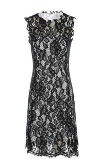 Кружевное приталенное платье без рукавов Elie Tahari