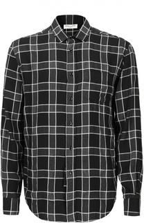 Рубашка в клетку свободного кроя Saint Laurent