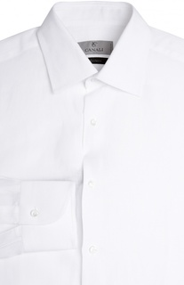 Льняная сорочка с воротником кент Canali