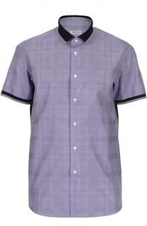 Рубашка в клетку с короткими рукавами Brioni