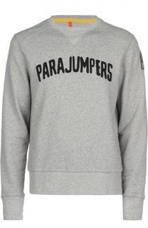 Хлопковый свитшот с надписью Parajumpers