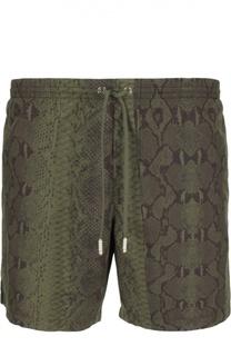Плавки-шорты с карманами и принтом под питона Roberto Cavalli