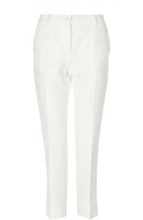 Прямые брюки со стрелками и фактурной отделкой Dolce & Gabbana