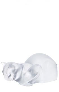 Скульптура Crouching Cat Lalique