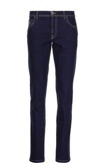 Зауженные джинсы с контрастной прострочкой Scissor Scriptor