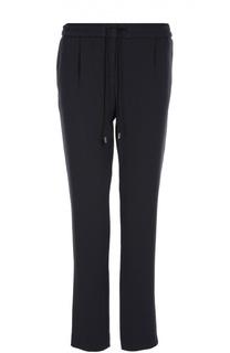 Прямые брюки с защипами и эластичным поясом BOSS