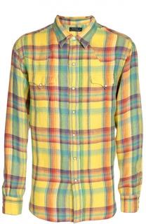 Льньная рубашка в клетку Madras Polo Ralph Lauren