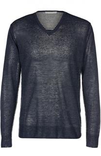 Меланжевый пуловер с контрастными вставками Daniele Fiesoli