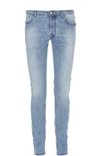 Зауженные джинсы с потертостями Jacob Cohen