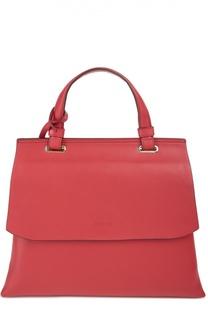 Кожаная сумка Double Gusset с клапаном DKNY