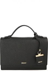 Кожаная сумка Bryant Park с клапаном и ручкой DKNY