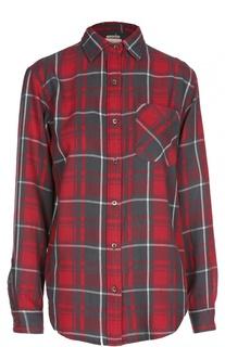 Блуза прямого кроя в клетку в накладным карманом Denim&Supply by Ralph Lauren