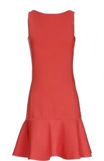 Приталенное мини-платье с широкой оборкой и открытой спиной Polo Ralph Lauren