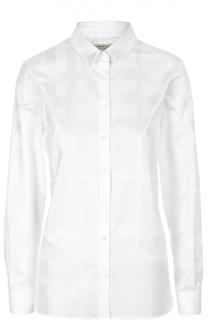 Блуза прямого кроя в клетку Burberry