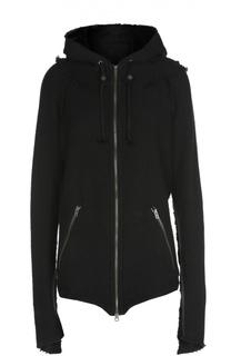 Куртка асимметричного кроя с капюшоном и карманами L.G.B.