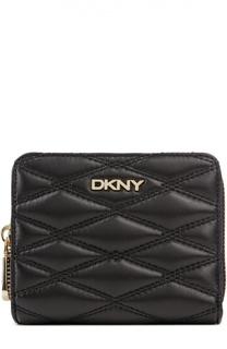 Кожаное портмоне с прострочкой DKNY