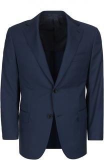 Полуприталенный костюм из смеси шерсти с шелком Andrea Campagna