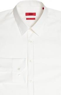 Приталенная сорочка с воротником кент HUGO