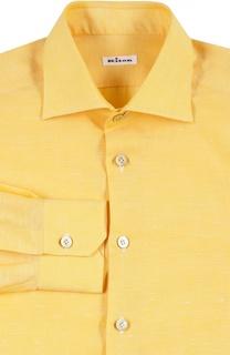 Сорочка из смеси хлопка со льном Kiton
