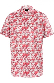 Рубашка с коротким рукавом и принтом Ermenegildo Zegna
