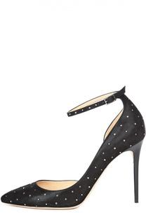 Замшевые туфли Lucy с кристаллами Jimmy Choo