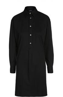 Хлопковое платье-рубашка свободного кроя Polo Ralph Lauren