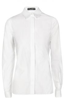 Приталенная хлопковая блуза Dolce & Gabbana