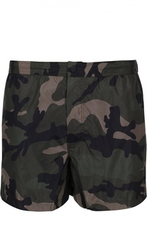 Плавки-шорты с камуфляжным принтом и карманами Valentino
