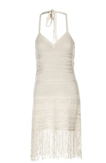 Вязаное платье-комбинация с бахромой Denim&Supply by Ralph Lauren