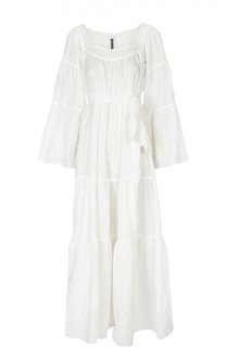Платье-макси свободного кроя с поясом и широкими рукавами Lisa Marie Fernandez