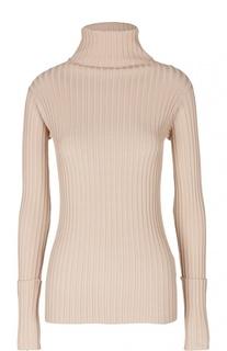 Пуловер фактурной вязки с высоким воротником Valentino