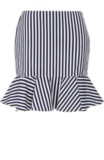 Мини-юбка с оборкой в полоску Polo Ralph Lauren