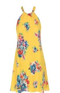 Шелковое платье свободного кроя с ярким принтом Polo Ralph Lauren