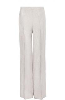 Льняные прямые брюки со стрелками BOSS