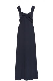 Вечернее платье в пол с декорированным лифом Escada