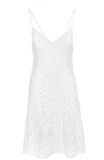 Кружевное мини-платье на бретельках Polo Ralph Lauren