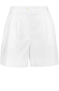 Мини-шорты с завышенной талией и защипами Dolce & Gabbana