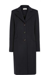 Кашемировое пальто прямого кроя с широкими лацканами Balenciaga