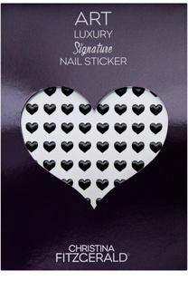 """Наклейка для ногтей """"Черное сердечко"""" (96 шт) Christina Fitzgerald"""