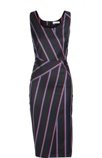 Платье-футляр в контрастную полоску без рукавов Altuzarra