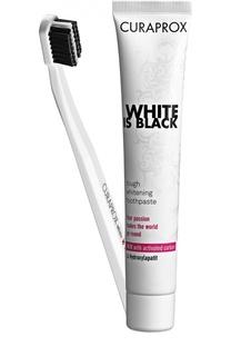 Набор White Is Black: Зубная паста + Зубная щетка Curaprox