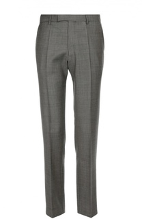 Классические брюки из фактурной шерсти BOSS
